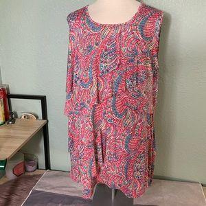 3/$20🌻 2X Paisley sleeveless Ruffled Blouse